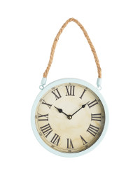 Sempre Glossy Rope Wall Clock - Duck Egg