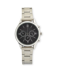 Sempre Mens Round Silver Watch