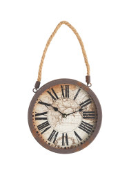 Sempre Rusted Rope Wall Clock - Black