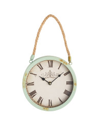 Sempre Rusted Rope Wall Clock - Sage Green