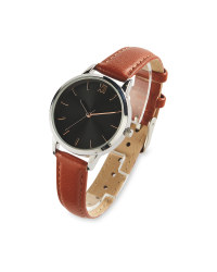 Sempre Tan Leather Look Strap Watch