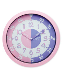 Sempre Time Teaching Wall Clock - Pink/Lilac