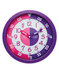 Sempre Time Teaching Wall Clock - Magenta/Purple