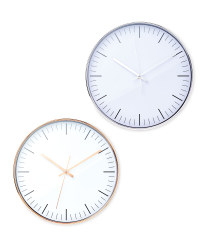 Sempre White Wall Clock