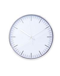 Sempre White Wall Clock - Silver