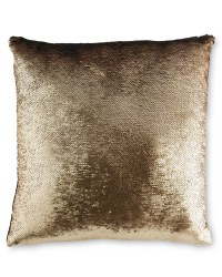 Kirkton House Sequin Cushion - Gold/Blue