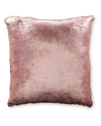 Kirkton House Sequin Cushion - Pink/Silver