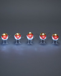 Set Of 5 Acrylic Robins