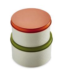 Premium Embossed Cake Tins 2 Pack