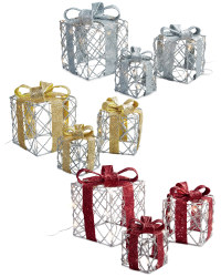 Set of 3 LED Parcels