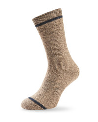 Short Wool Fishing Socks - Brown