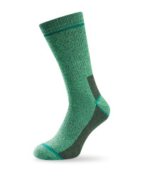 Short Wool Fishing Socks - Green