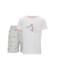 Children's Unicorn Shorty Pyjamas