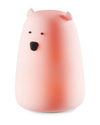 Silicone Bear Night Light - Pink