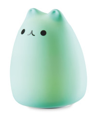 Silicone Cat Night Light - Blue