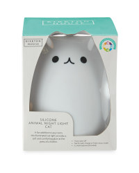 Silicone Cat Night Light - White