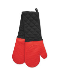 Silicone Double Oven Glove - Red