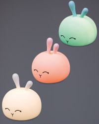 Silicone Rabbit Night Light