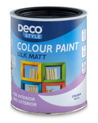 Silk Matt Paint 1L - Deep Black