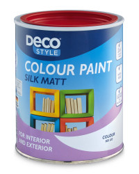 Silk Matt Paint 1L - Fire Red