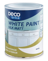 Silk Matt White Paint 1L