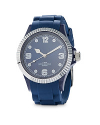 Silver / Navy Watch
