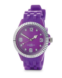 Silver / Purple Watch