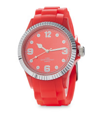 Silver / Red Watch