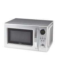 Silver Retro Microwave Oven