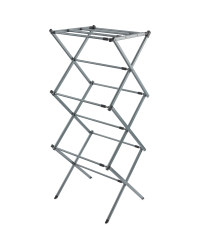 Silver/Black 3-Tier Expanding Airer