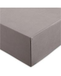 Single 100% Cotton Fitted Sheet - Dark Grey
