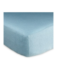 Kirkton House Single Fitted Sheet - Blue