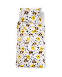 Emoji Monkey Face Single Duvet Set