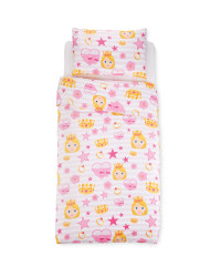 Emoji Princess Single Duvet Set