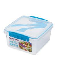 Sistema® Lunchbox with Cutlery - Blue