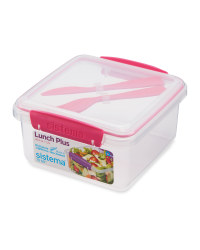 Sistema® Lunchbox with Cutlery - Pink