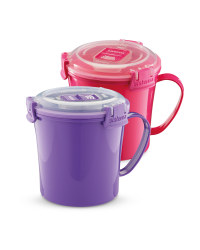 Sistema 2 Pack Soup Mugs - Pink/Purple