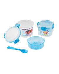 Sistema Breakfast To Go Snack Pots - Blue