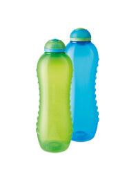 Sistema Hydration Bottles 2 Pack - Blue/Green