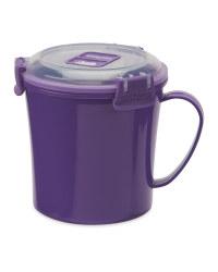 Sistema Microwave Soup Mug - Purple