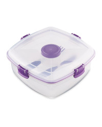 Sistema Salad Max Lunch Box - Purple