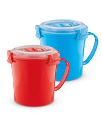 Sistema Soup Mugs 2 Pack