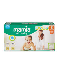 Mamia Size 3 Nappies 98 Pack
