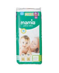 Mamia Size 4+ Maxi+ Nappies 44 Pack