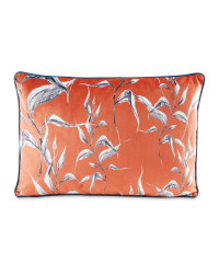 Sketchy Leaf Rectangular Cushion