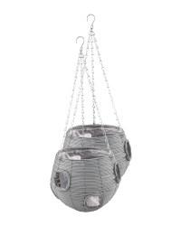 Slate Ball Hanging Basket 2 Pack