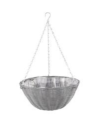 Slate Round Hanging Basket 14''