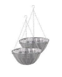 Slate Round Hanging Basket 2 Pack