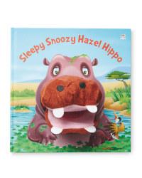 Sleepy Hippo Hand Puppet Book