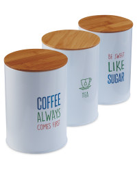 Slogan Tea, Coffee & Sugar Set